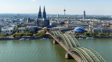 The River Rhine and Cologne, Germany