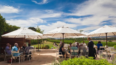 Domaine Chandon is known for its palatial interiors and excellent sparkling wine