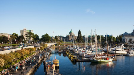 Victoria's Inner Harbour is home to the Fairmont Empress, the Royal BC Museum and the BC Parliament Buildings