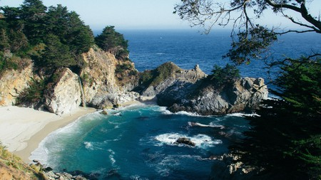 McWay Falls, in Julia Pfeiffer Burns State Park, is a stunning stop on the Big Sur coast