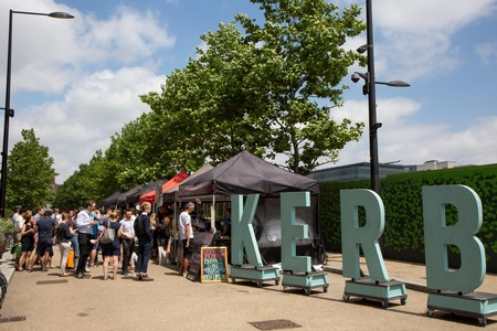 Kerb, a street food market just north of King's Cross Station