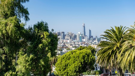 Mission Dolores Park, San Francisco, California, USA