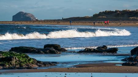 Yellowcraig beach is just under an hour's drive from Edinburgh