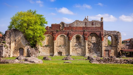 The ruins of St. Augustine's Abbey, an old monastery in Kent, UK, are drenched in history