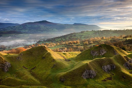 The Brecon Beacons National Park is filled with beautiful natural landscapes such as the Llangattock Escarpment