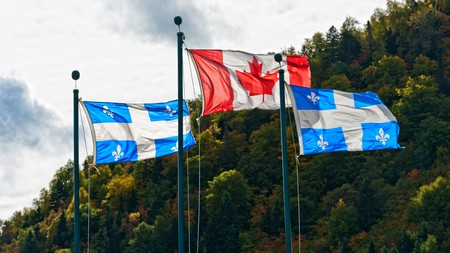 The Quebec flag represents the province's French history