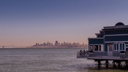 Sausalito offers great views of San Francisco, California, in the distance