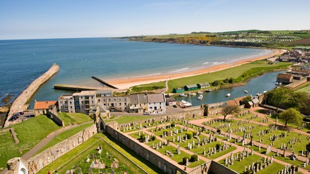 Top things to do in St Andrews include a climb up St Rule's Tower for a spectacular coastal view