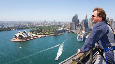The BridgeClimb experience allows you to scale the Sydney Harbour Bridge and take in extraordinary views