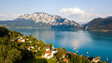 Lake Attersee is just one of the many beautiful places to visit on your trip to Austria