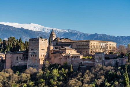 View of Alhambra Palace in Granada, Spain in Europe