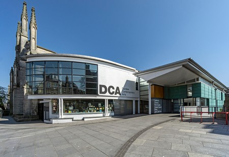 DCA (Dundee Contemporary Arts Centre) entrance in Nethergate Dundee Scotland UK