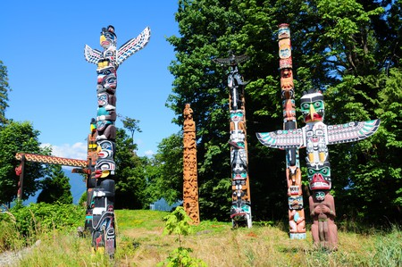 Totems in Stanley Park, Vancouver