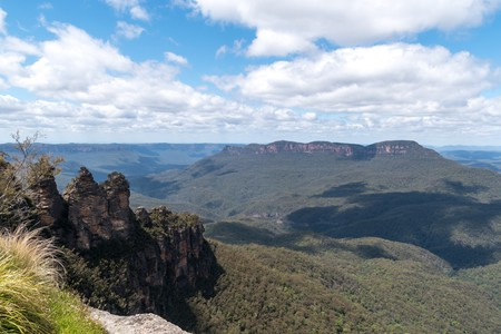The Blue Mountains in New South Wales are so called for the majestic blue haze which surrounds them