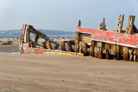 Old Fishing Boat Wreck, Crow Point, Braunton, North Devon, UK