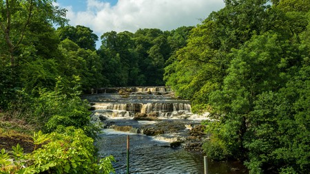 The Aysgarth Falls in the Yorkshire Dales National Park provide stunning scenery for a walk