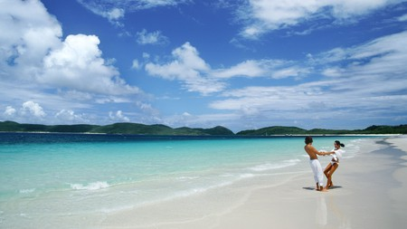 Whitehaven is just one of the romantic options in the Whitsunday Islands