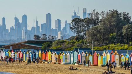 Brighton Beach's bathing boxes make for an Instagram-worthy shot