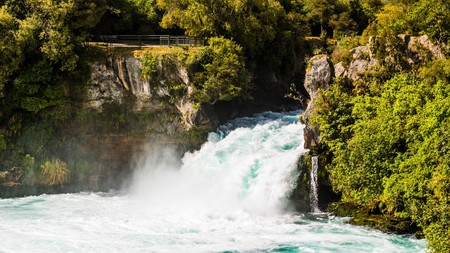 The Huka Falls are a favourite among keen photographers and adrenaline junkies
