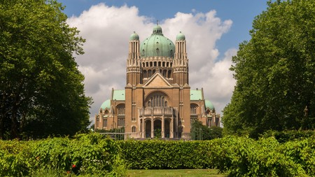 The Basilica of the Sacred Heart in Brussels ranks among the largest churches in the world