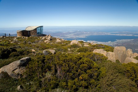 The view from atop Mt Wellington is just one of the incredible sights you will find in Tasmania