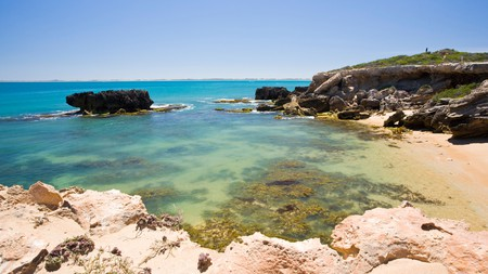 A secluded beach in Cape Dombey, Robe