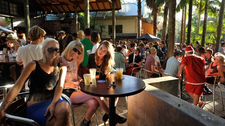 Byron Bay's laid-back atmosphere is reflected in its watering holes