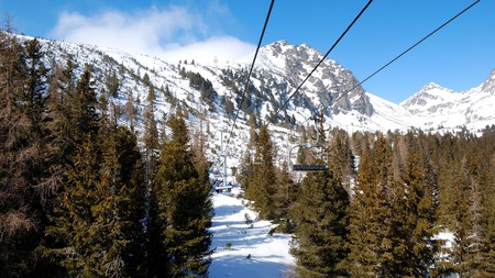 Slovakia is a great skiing destination with many spectacular views