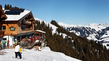 Gasthof Melkalm is great spot to stop off for some strudel when skiing in Kitzbühel