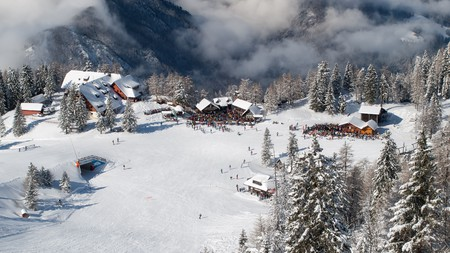 Krvavec is one of the top ski resorts in Slovenia