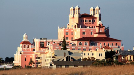 The Don CeSar hotel, at St Pete Beach, Florida, is one of many haunted hotels across the US where you can spend the night