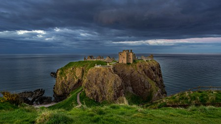 Dunnottar Castle is said to be one of the most haunted places in Scotland