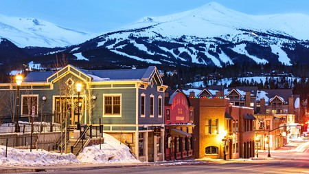 The well-known Colorado ski resort of Breckenridge also has great restaurants after your day on the slopes