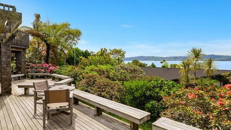 Koura Lodge offers exceptional views over Lake Rotorua