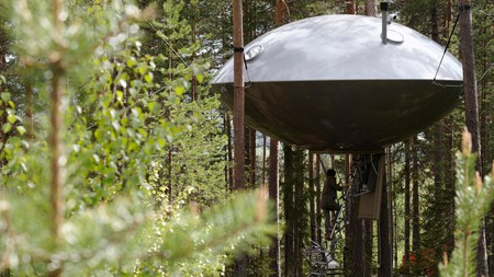 Hotels like the Treehotel in Sweden will guarantee an unforgettable stay