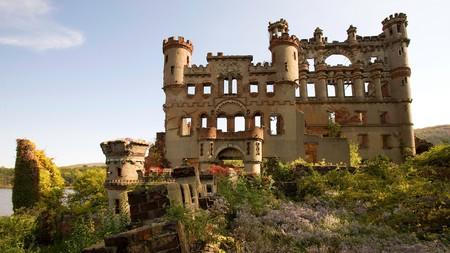 Castle Ruins on Bannerman Island (Pollepel), Hudson Highlands, Beacon, New York.