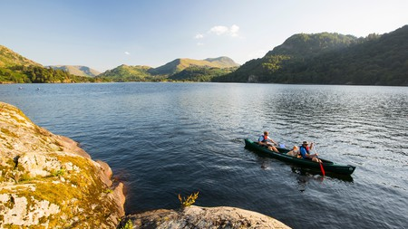 Canoeing on Ullswater is just one of many outdoor activities you can enjoy in the Lake District