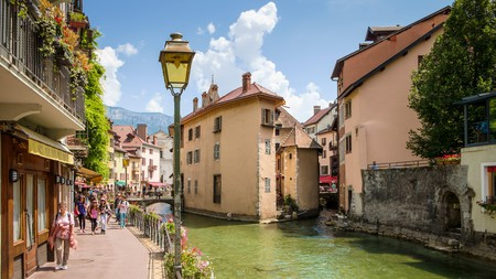 Stroll through the medieval streets of Annecy, Haute-Savoie, France, and discover some tucked-away art galleries