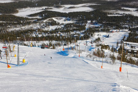 Finland ski center Pyha, Lapland
