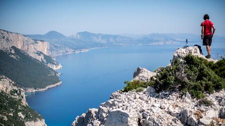 Hiking on Selvaggio Blu, Sardinia, Italy.