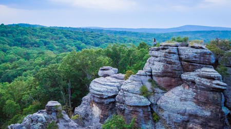 There is much to explore in the state of Illinois beyond the city lights of Chicago, such as the Garden of the Gods in the Shawnee National Forest