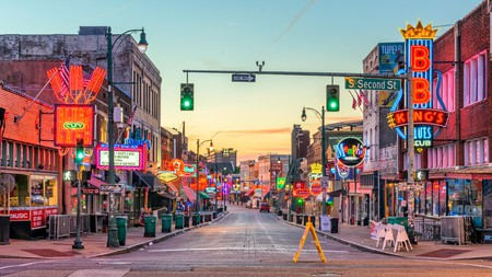 You'll find a whole host of bars and blues Clubs on historic Beale Street