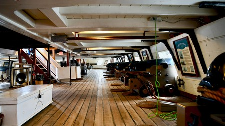 The historic USS Constellation in Baltimore is said to be haunted by former residents