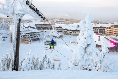 The ski resort of Ruka in Finland