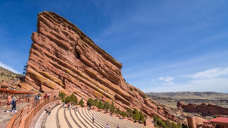 Red Rocks Park and Amphitheatre is a short drive from Denver