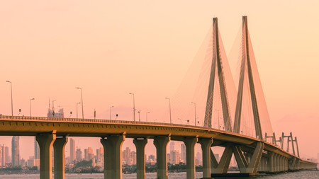 The Bandra-Worli Sea Link in Mumbai, India, offers spectacular views