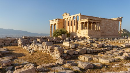The Erechtheum temple, on the Acropolis in Athens, was dedicated to the goddess Athena