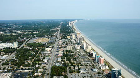 Aerial View of the Grand Strand, Myrtle Beach, South Carolina