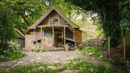 This riverside cabin in Constantine is one of the top places to stay in Cornwall