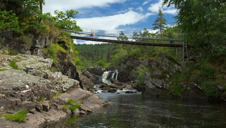 Rogie Falls is one of the best places in Scotland to see leaping salmon